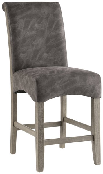 2 Chintaly Imports Marla Roll Back Parson Bar Stools CHF-MARLA-PRS-BS-GRY