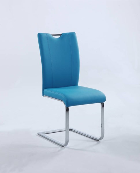 2 Chintaly Imports Melissa Blue Side Chairs CHF-MELISSA-SC-BLU