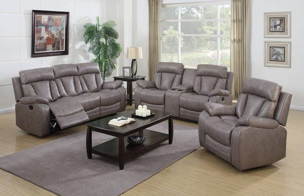 Modesto Modern Grey Bonded Leather Reclining Living Room Set CHF-MODESTO-LR
