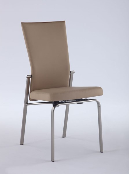 2 Chintaly Imports Molly Beige Motion Back Side Chairs CHF-MOLLY-SC-BGE