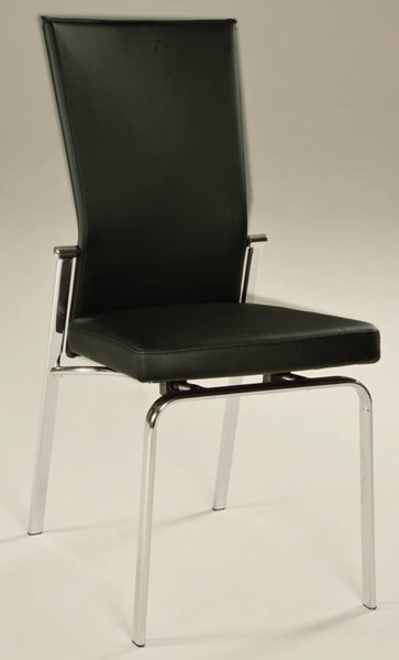 2 Molly Modern Black PU Motion Back Side Chairs CHF-MOLLY-SC-BLK
