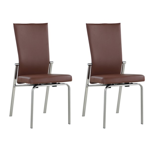 2 Chintaly Imports Molly Brushed Brown Motion Back Side Chairs CHF-MOLLY-SC-BRW-BSH