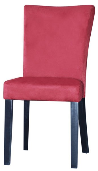 2 Monica Modern Red Microfiber Parson Side Chairs CHF-MONICA-PRS-SC-RED