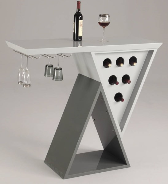 Mulberry Modern Dark Grey Double Triangle Home Bar Base CHF-MULBERRY-BAR-B