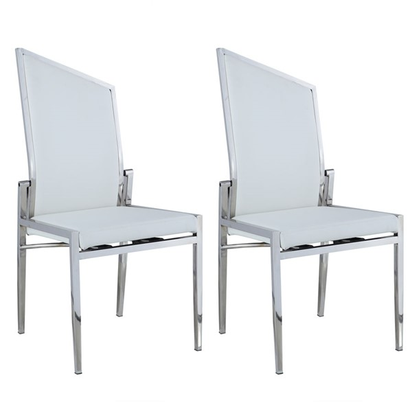 2 Chintaly Imports Nala Polished Side Chairs CHF-NALA-SC-POL-DR-CH-VAR