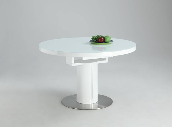 Nora Gloss White Wood Round Storage Table Base CHF-NORA-DT-B