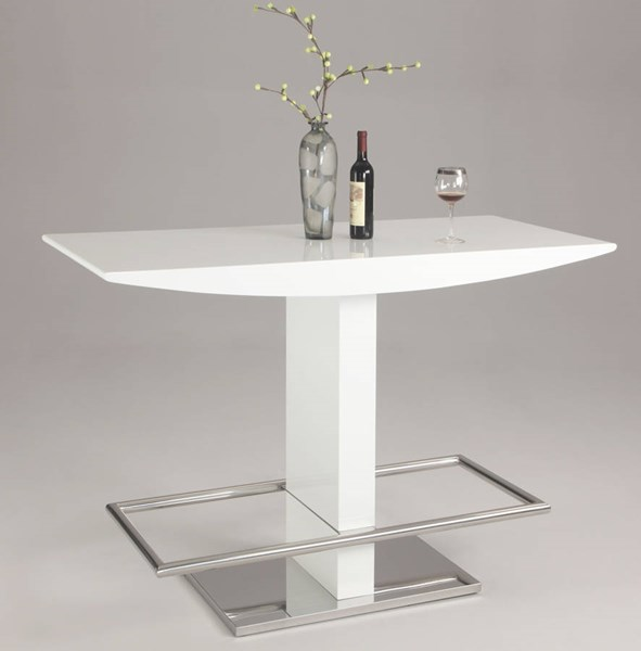 Orchard Modern High Gloss White T - Stand Bar Top & Footrest CHF-ORCHARD-BAR-T