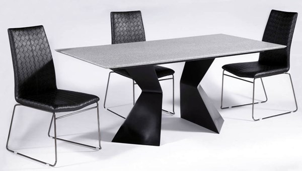 5pc Contemporary PU Phyllis Dining Room Set CHF-PHYLLIS-DTS