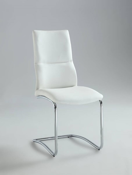 2 Piper White PU Cantilever Curved Back Side Chairs CHF-PIPER-SC-WHT