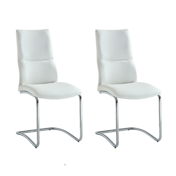 2 Chintaly Imports Piper White Side Chairs CHF-PIPER-SC-WHT