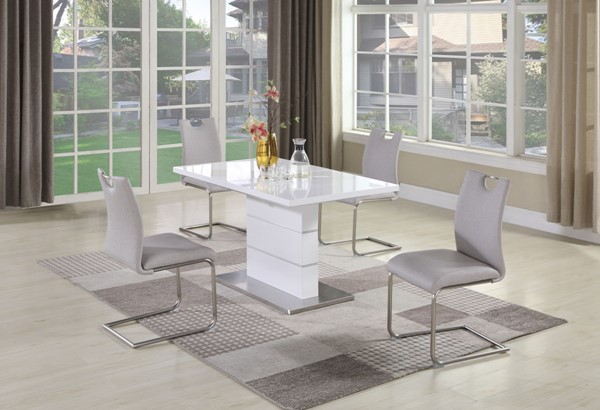 Chintaly Imports 5pc Extension Dining Room Set CHF-RACHEL-CARINA-5PC-508