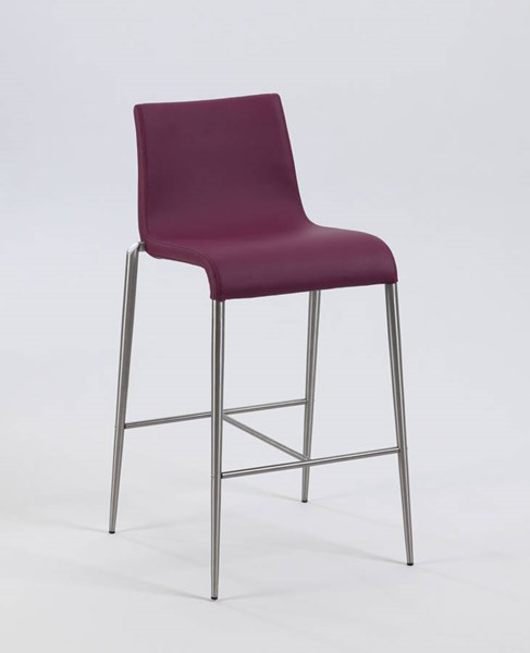 2 Remy Purple PU Upholstered Bar Stools CHF-REMY-BS-PUP