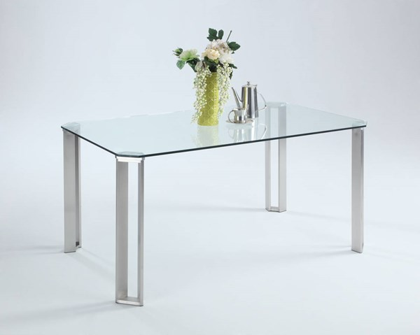 Rhonda Clear Glass Cut-Corner Glass Table Top CHF-RHONDA-DT-T