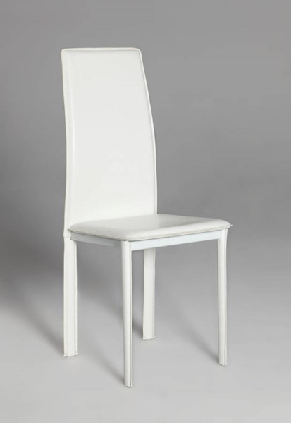 4 Riana White PVC Fully Upholstered Side Chairs CHF-RIANA-SC-WHT