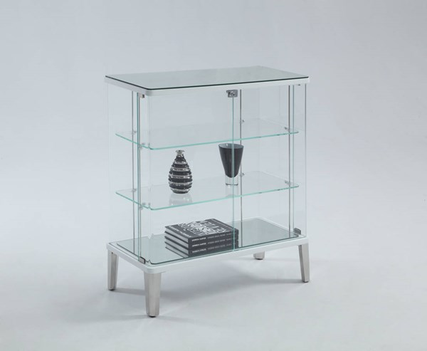 Riley White Clear Glass Buffet Table CHF-RILEY-BUF