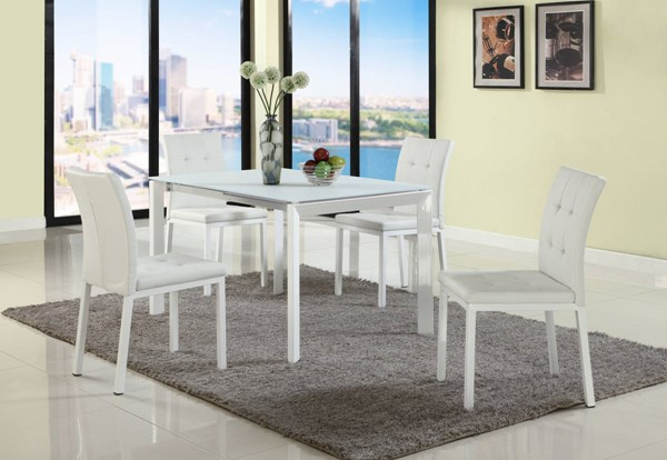 Roberta White Rectangle Dining Table Legs CHF-ROBERTA-DT-B