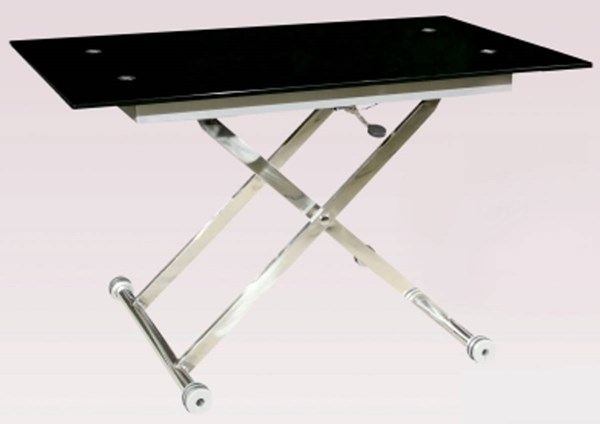 Sherry Black Rectangular Glass Cocktail Table Top CHF-SHERRY-CT-T