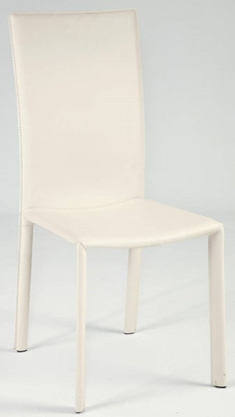 2 Grace White PVC Completely Set Up Side Chairs CHF-SOFIA-SC-WHT