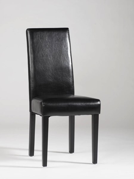 Straight Back Black Red PU Parson Chairs CHF-STRGT-BCK-PRS-SC-VAR