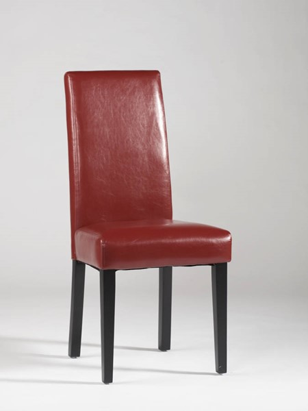 2 Chintaly Imports Straight Back Parson Red Chairs CHF-STRGT-BCK-PRS-SC-RED