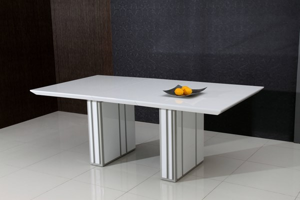 Summer Gloss White Extension Dining Table CHF-SUMMER-DT-TB