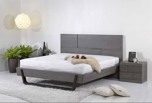 Sydney Grey Wood 2pc Platform Bedroom Sets CHF-SYDNEY-BR-S