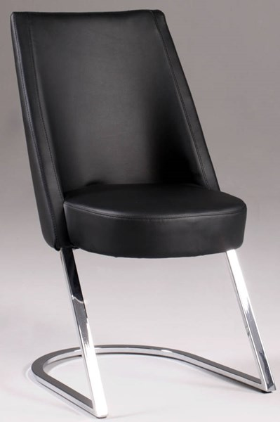2 Tami Black PU Slight Concave Back Side Chairs CHF-TAMI-SC