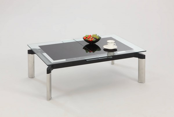 Chintaly Imports Tara Black Cocktail Table CHF-TARA-CT-BLK