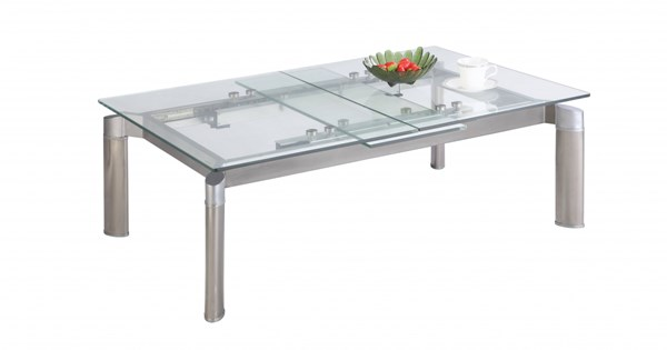 Chintaly Imports Tara Grey Cocktail Table CHF-TARA-CT-CLR