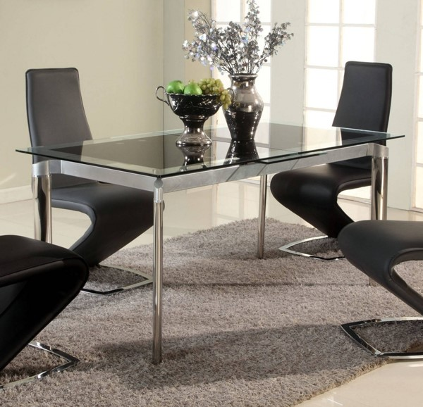 Chintaly Imports Tara Black Dining Table CHF-TARA-DT-BLK