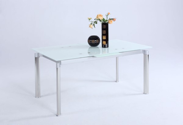 Chintaly Imports Tara White Dining Table CHF-TARA-DT-WHT