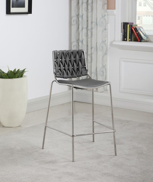Chintaly Imports Taylor Polished Stainless Steel Stackable Counter Stools CHF-TAYLOR-CS-VAR