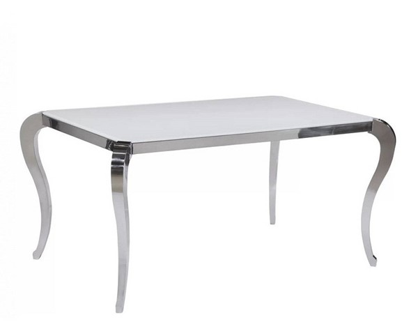 Chintaly Imports Teresa White Dining Table CHF-TERESA-DT