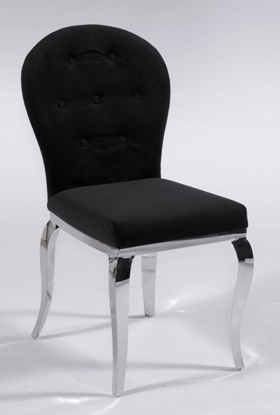 2 Chintaly Imports Teresa Black Oval Back Side Chairs CHF-TERESA-SC-OVL