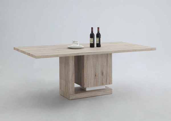 Tiffany Light Oak Wood Solid Top Dining Table CHF-TIFFANY-DT-TB