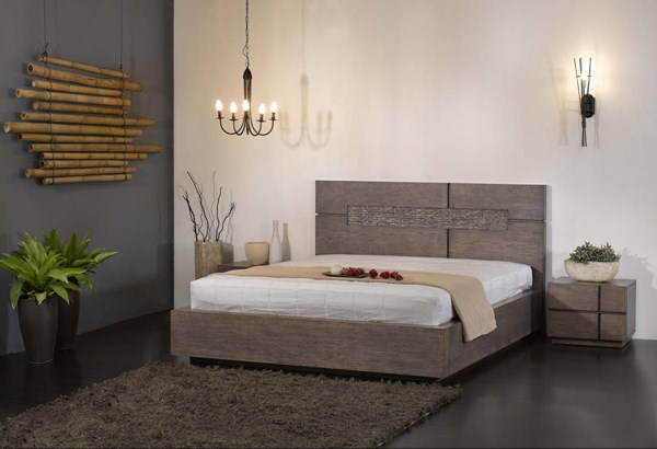 Tokyo Contemporary Wood King Bed Headboard & Base CHF-TOKYO-BED-KG-HBSB