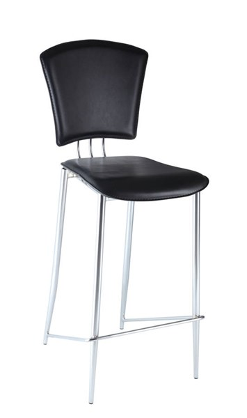 2 Tracy Contemporary Black PVC Counter Height Stools CHF-TRACY-CS-BLK