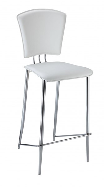 2 Tracy Contemporary White PVC Counter Height Stools CHF-TRACY-CS-WHT