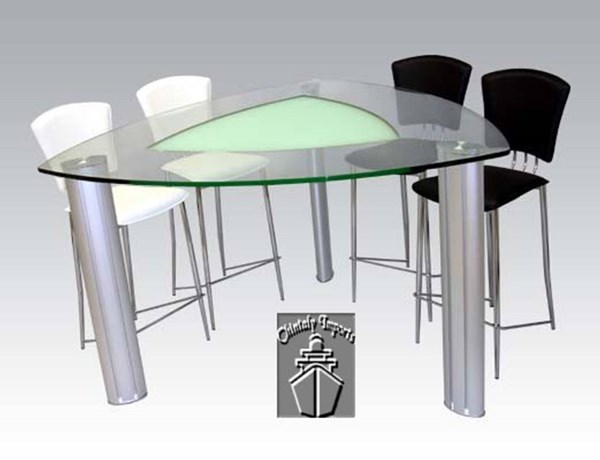 Tracy Contemporary PVC Counter Height / Bar Set CHF-TRACY-BAR