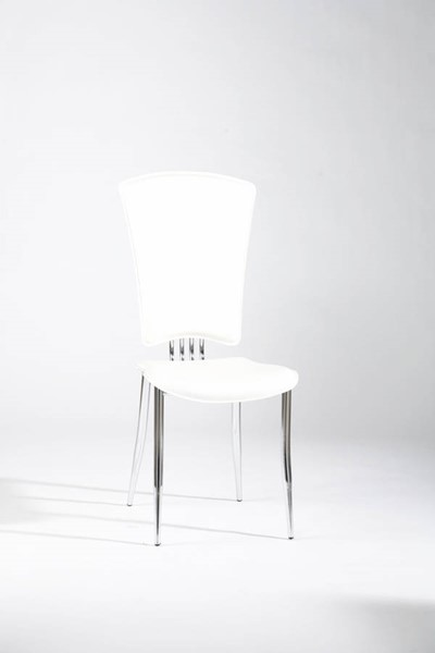 6 Tracy Contemporary White PVC Side Chairs CHF-TRACY-SC-WHT