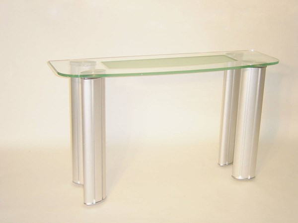 Tracy Brushed Silver Metal Legs Sofa Table CHF-TRACY-ST-B