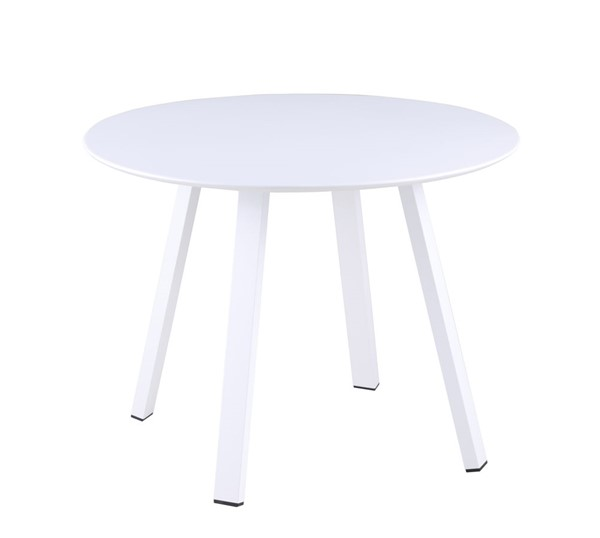 Chintaly Imports Ventura Matte White Round Outdoor Dining Table CHF-VENTURA-DT-WHT