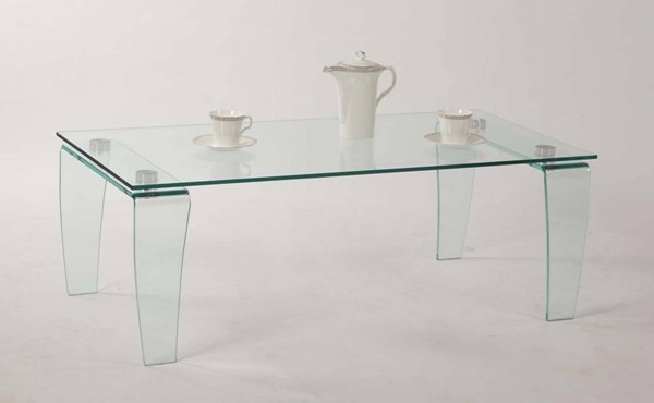 Vera Modern Clear Glass Coffee Table Set CHF-VERA-OCT