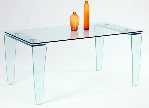 Vera Clear Glass Legs Dining Table Base CHF-VERA-DT-B