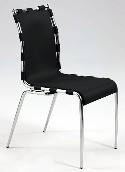 2 Vera Leather Completely Set Up Strap Sides Side Chairs CHF-VERA-SC-VAR