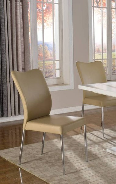2 Wendy Grey PU Split Upholstered Side Chairs CHF-WENDY-SC-GRY