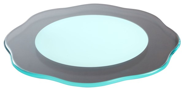 Chintaly Imports Lazy Susan 24 Inch Round Rotating Tray CHF-LAZY-SUSAN-24FLW