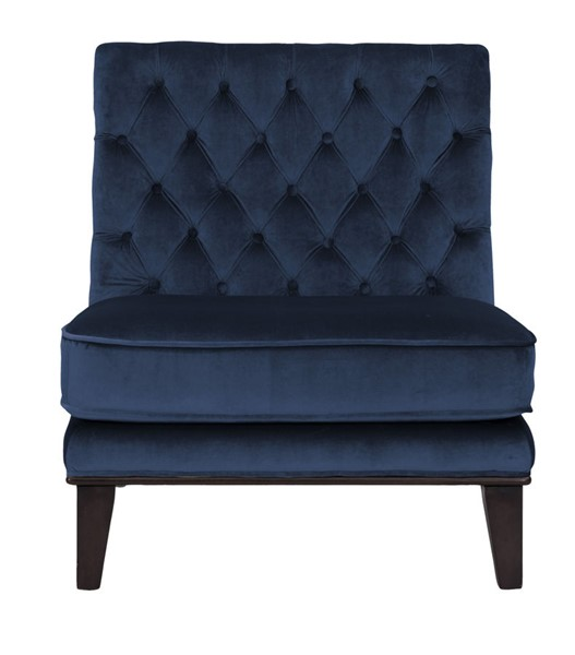 Chic Home Achilles Navy Velvet Tufted Back Accent Chair CHIC-FAC2695-CE