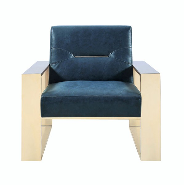 Chic Home Colton Modern Navy PU Accent Chair CHIC-FAC2710-CE