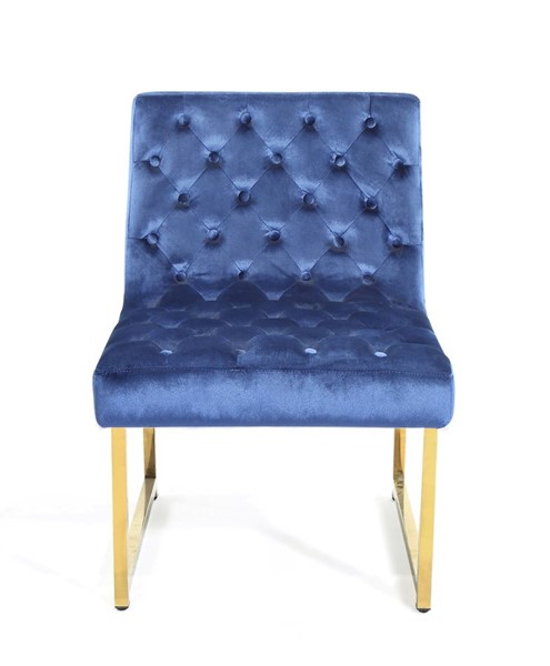 Chic Home Moriah Navy Velvet Tufted Accent Chair CHIC-FAC2810-CE